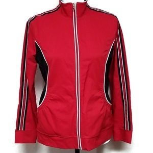 Saint John's Bay Red Black Lightweight Jacket